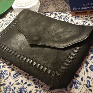 LAST DAY GUC Topshop Coated Leather Crossbody